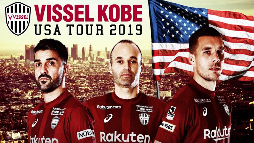 楽天スタッフ、ヴィッセル神戸初の米国プレシーズンツアーを応援